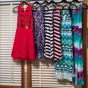 Girls set of 6 Justice dresses size 16